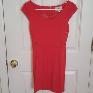 Red Lace Bodycon Dress